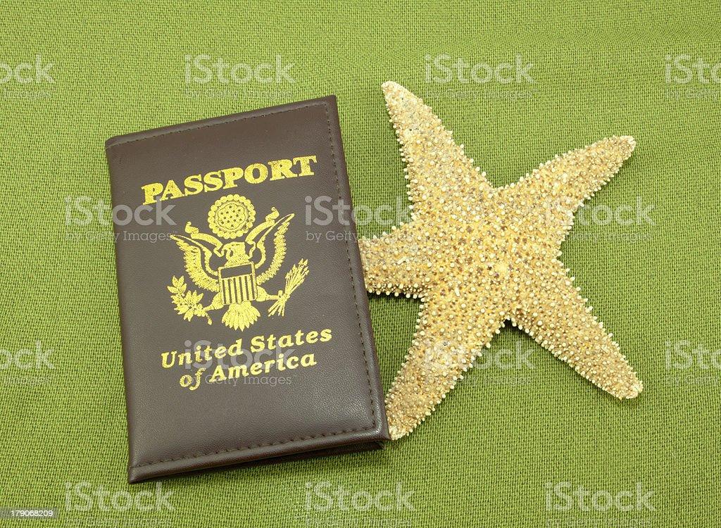 Passport Starfish stock photo