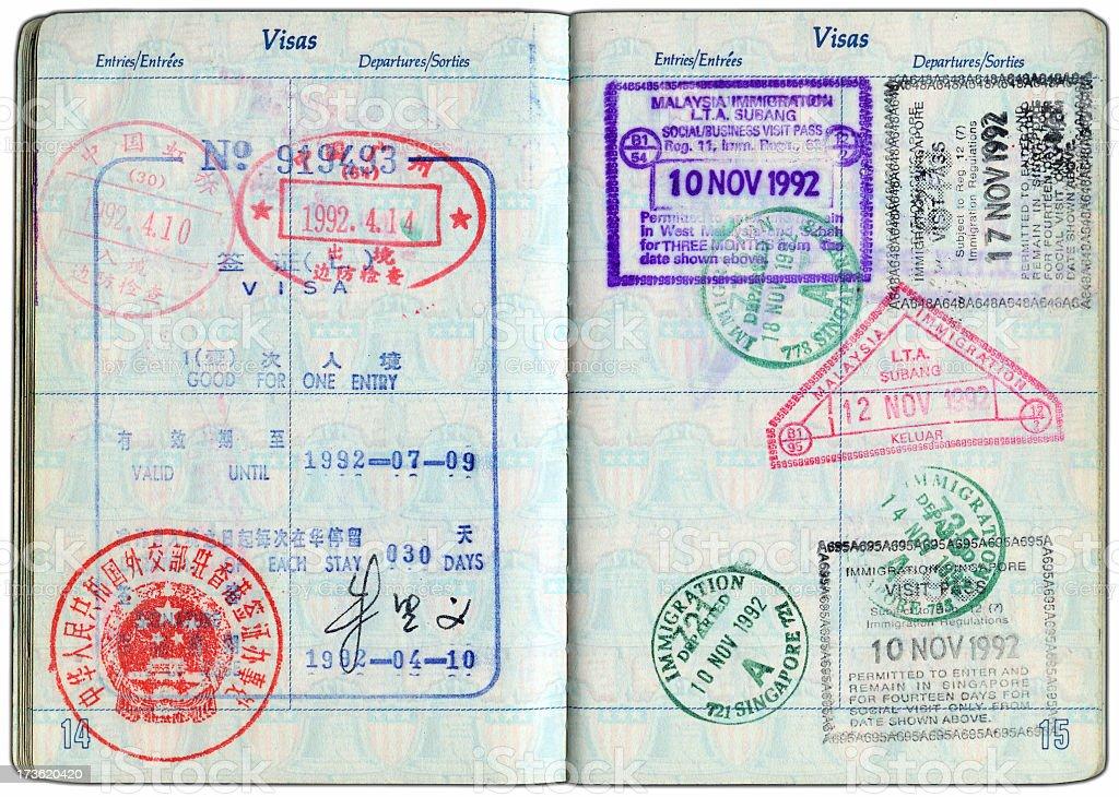 アジアのパスポート ストックフォト