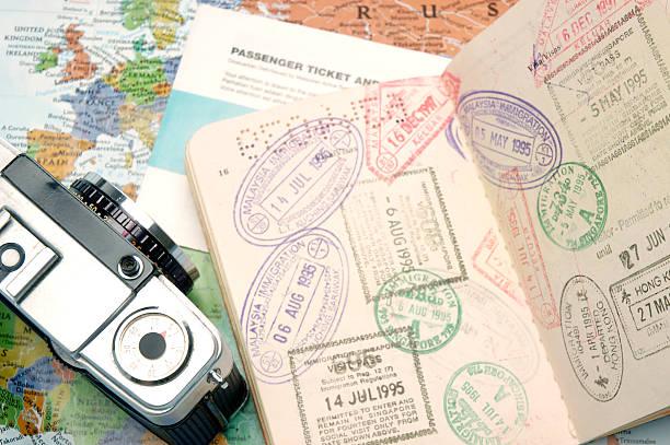 Documentos de viaje - foto de stock
