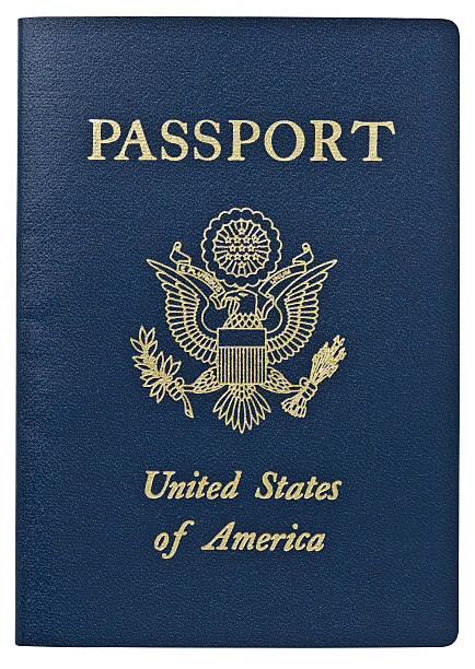 passport - usa. clipping path. - passport stock photos and pictures