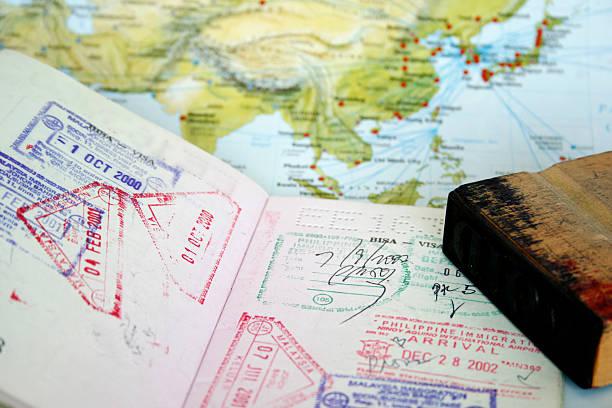 Passport Visa  pasport malaysia stock pictures, royalty-free photos & images