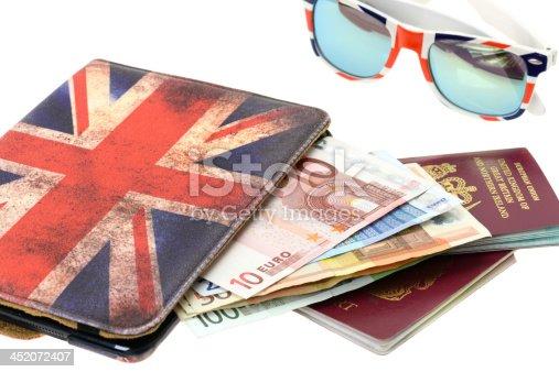 istock Passport with Euro money 452072407