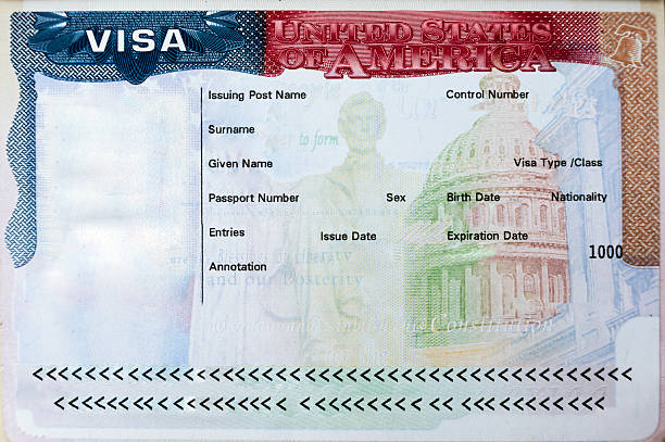 Passport with USA visa Passport with USA visa entry admitted passport stamp stock pictures, royalty-free photos & images