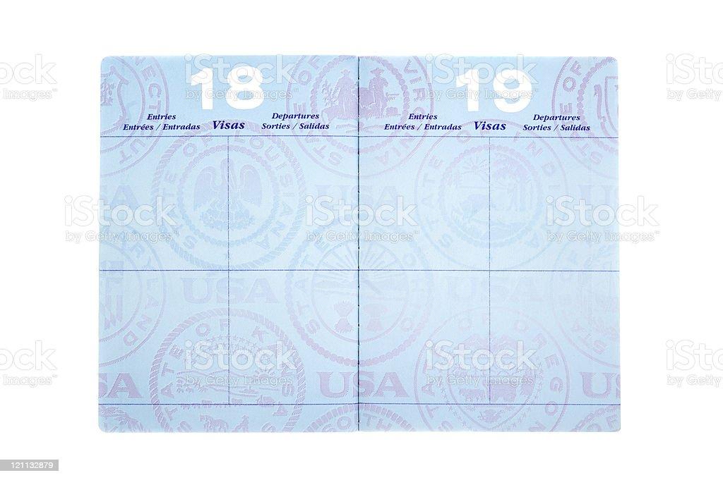 パスポート、ビザのページ ストックフォト