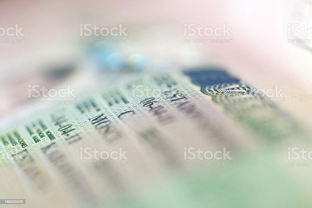 passport witn Schengen visa stock photo