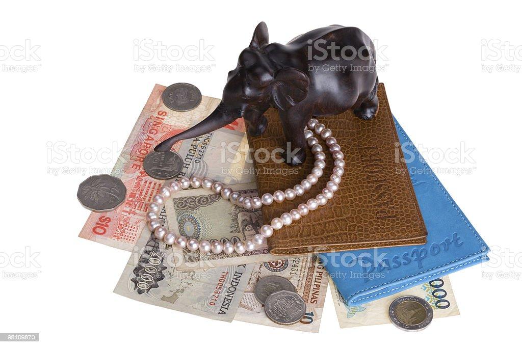 여권 및 기념품 royalty-free 스톡 사진