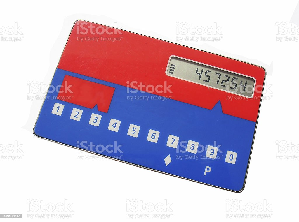 password generator card isolated royalty-free stock photo
