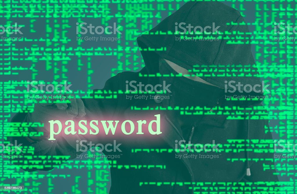 Password hacker royalty-free stock photo