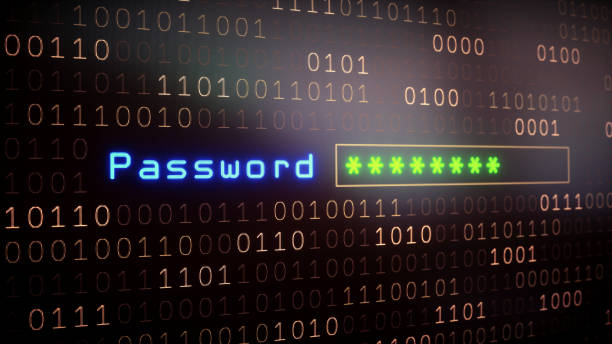 password input field on binary - bit binary stock pictures, royalty-free photos & images