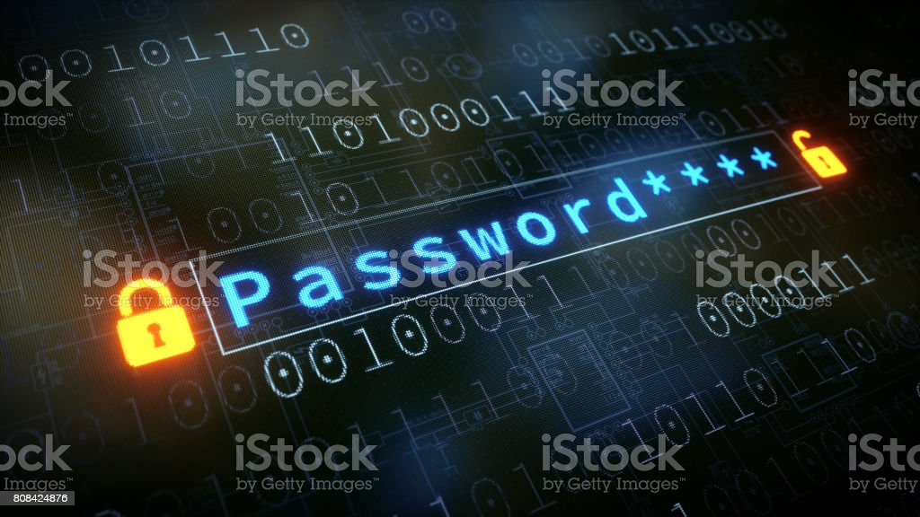 Password Input Field With Padlock - foto stock