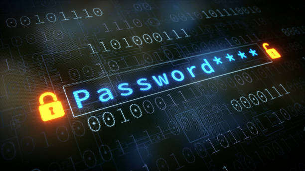 Password Input Field With Padlock stock photo