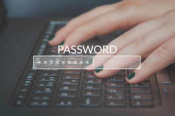 Passwort ein – Foto
