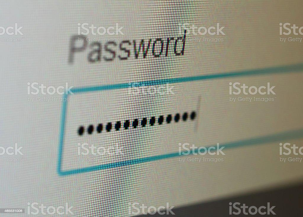 Password stock photo