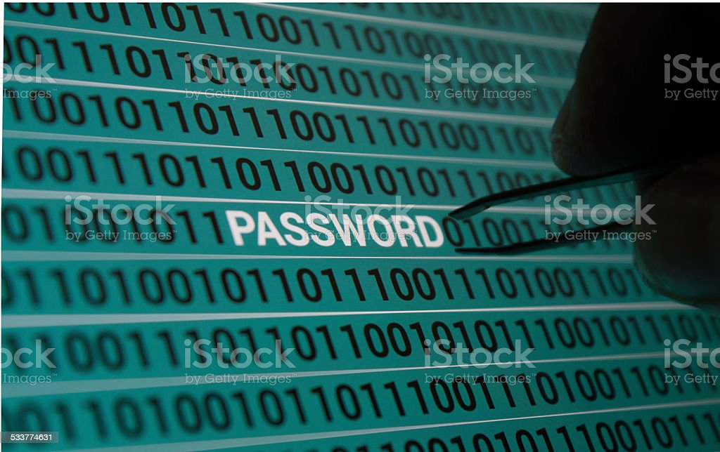 Password! In day and age of technology, our lives revolve around technology!!! From things simple as buying a coffee or making billion dollar deals, we rely on technology.  2015 Stock Photo