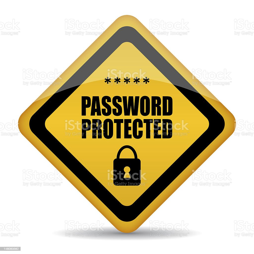 Password protected icon stock photo