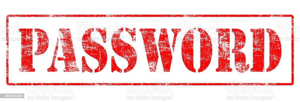 Password - Rubber Stamp stock photo