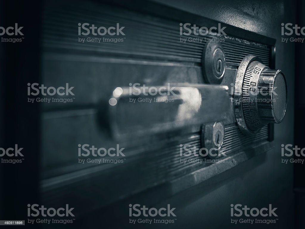 Password security Protected Banking Financial on Safe box stock photo
