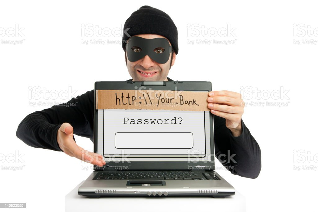 Password thief (phishing) stock photo