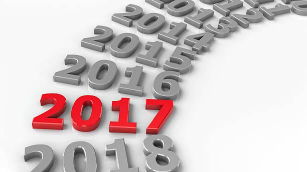 2017 past circle - foto de stock