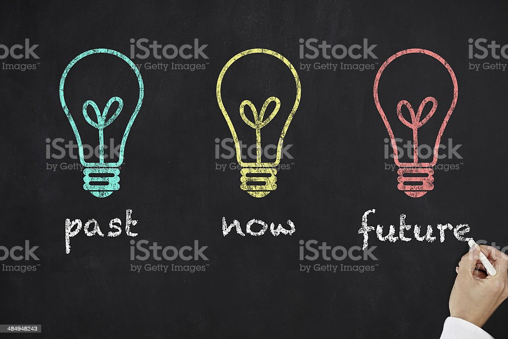 Past, now and future stock photo