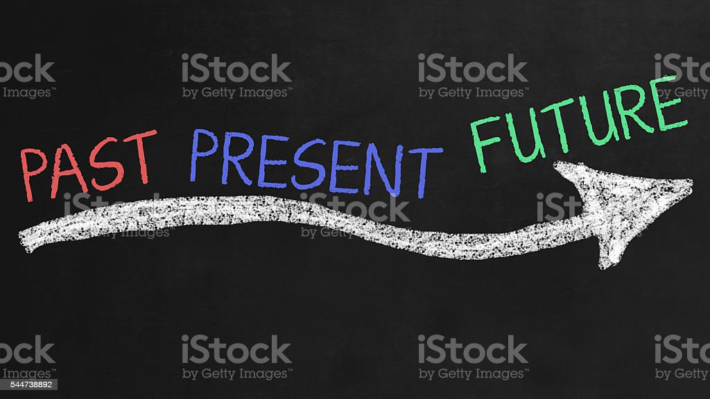 Past, Present, Future stock photo
