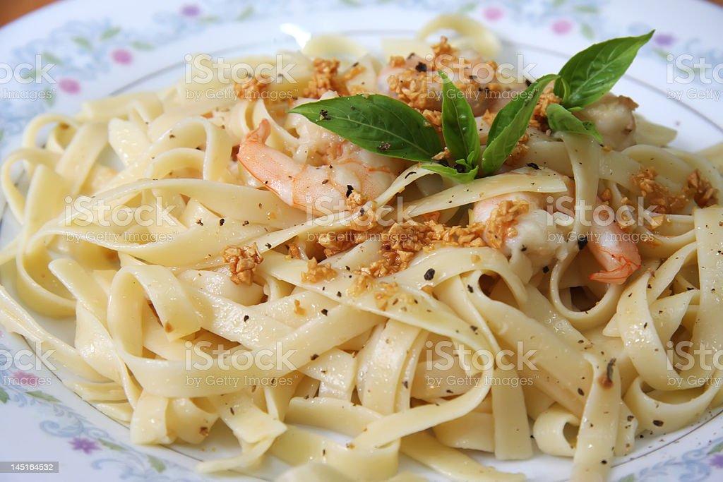 Pasta ala oglio royalty-free stock photo