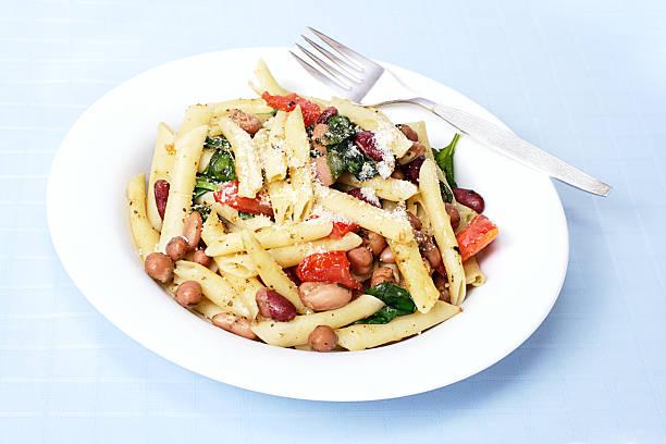 Pasta and bean salad stock photo