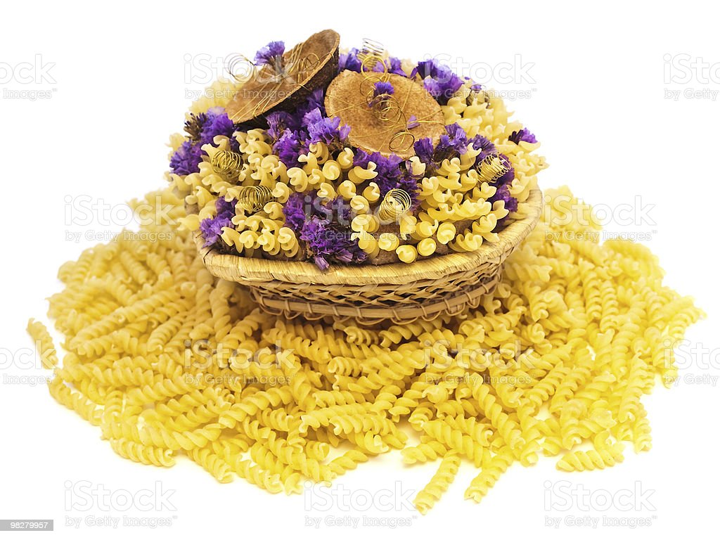 pasta and flowers royalty-free stock photo
