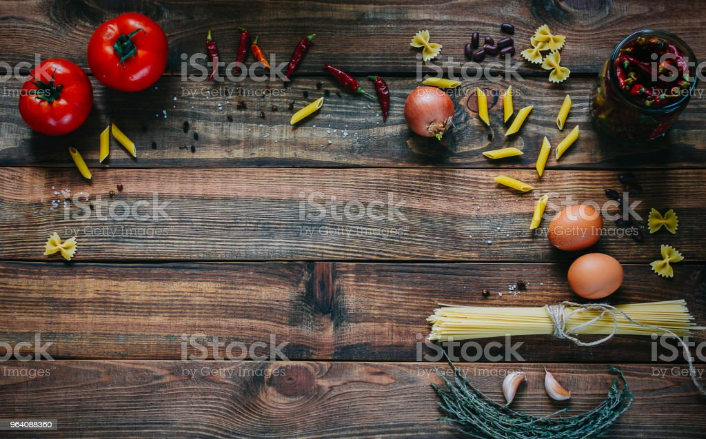 Pasta And Tomatoes - Royalty-free Basil Stock Photo