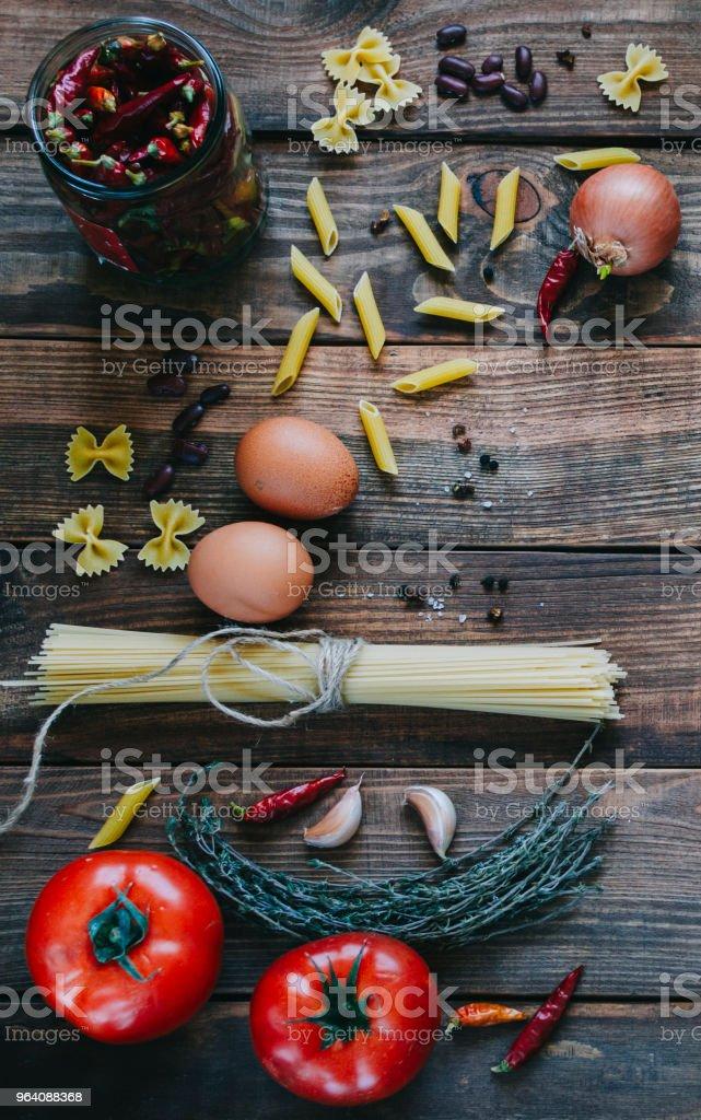 Pasta And Tomatoes - Royalty-free Basil Stock Photo