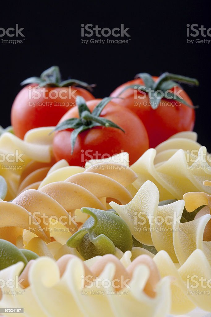 Pasta and Tomatoes royalty-free stock photo