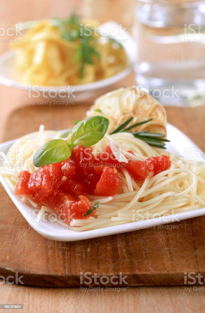 Pasta appetizer royalty-free stock photo