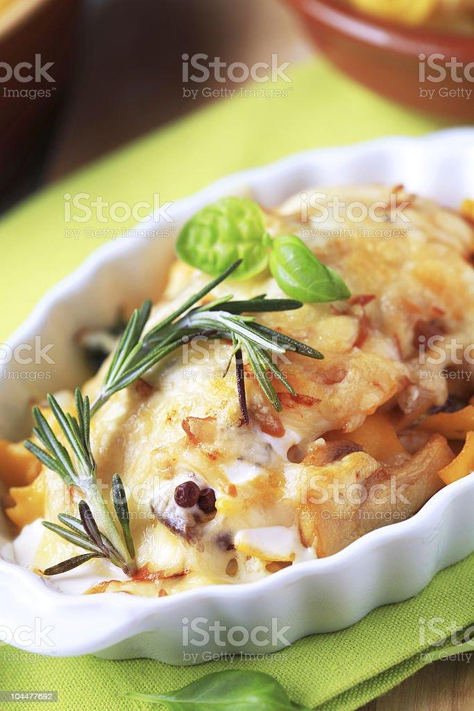 Pasta au gratin royalty-free stock photo