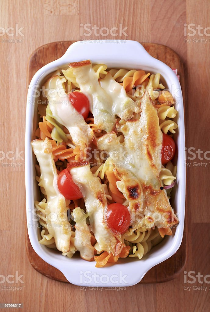 Pasta au gratin royalty-free stock photo