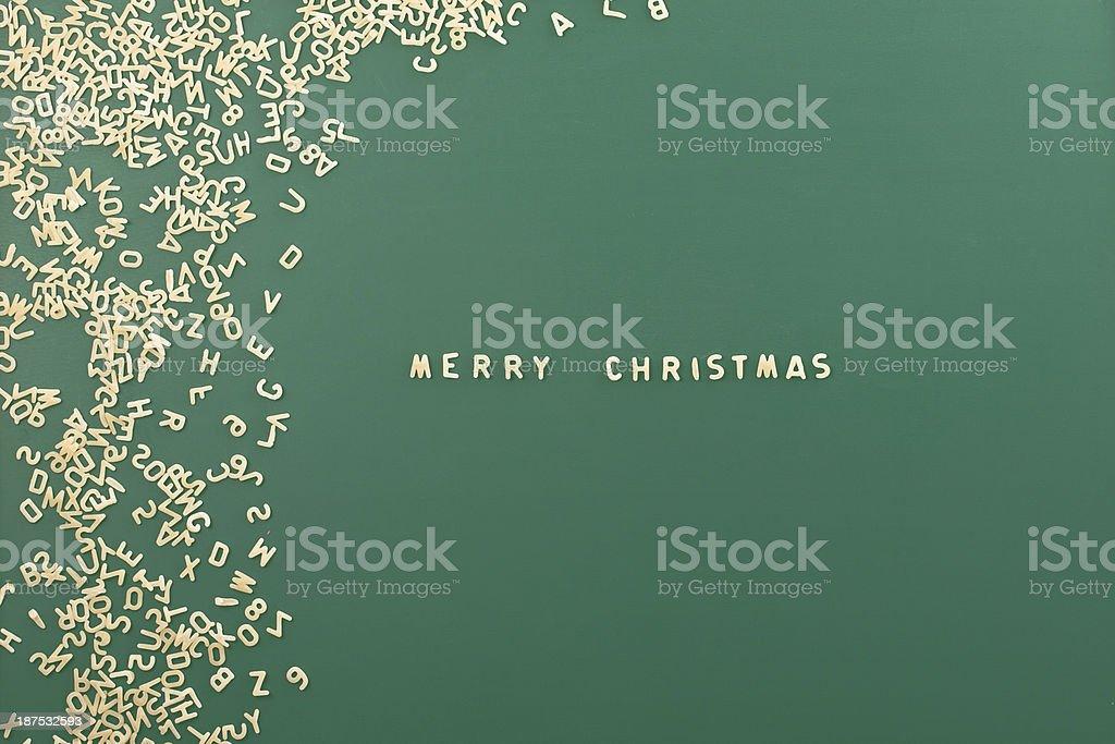 Pasta Hintergrund Mit Wort Merry Christmas Stock-Fotografie und mehr ...