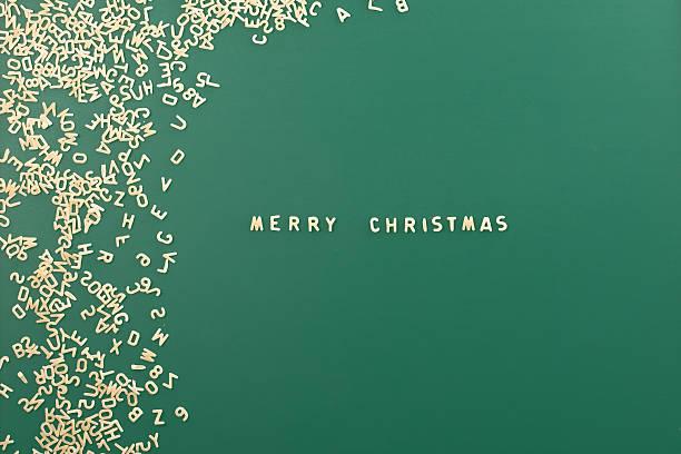 Pasta Hintergrund mit Wort Merry Christmas