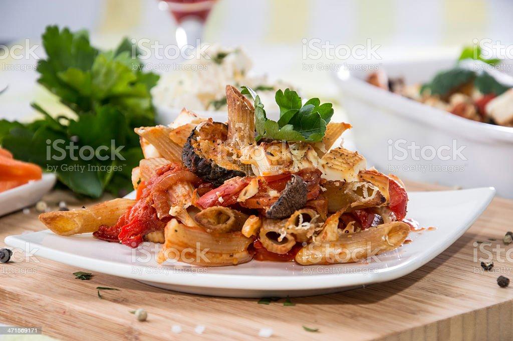 Pasta Bake royalty-free stock photo