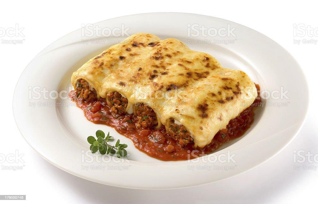 Pasta Cannelloni stock photo