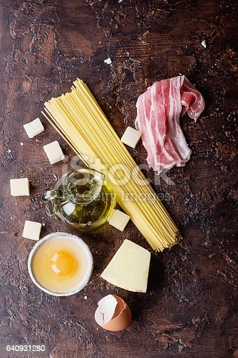 istock Pasta Carbonara Ingredients 640931280