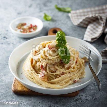 Homemade pasta Carbonara
