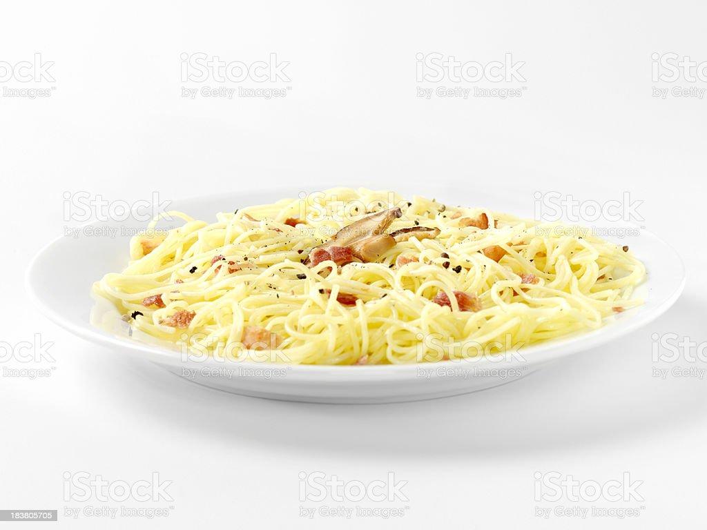 Pasta Carbonara royalty-free stock photo