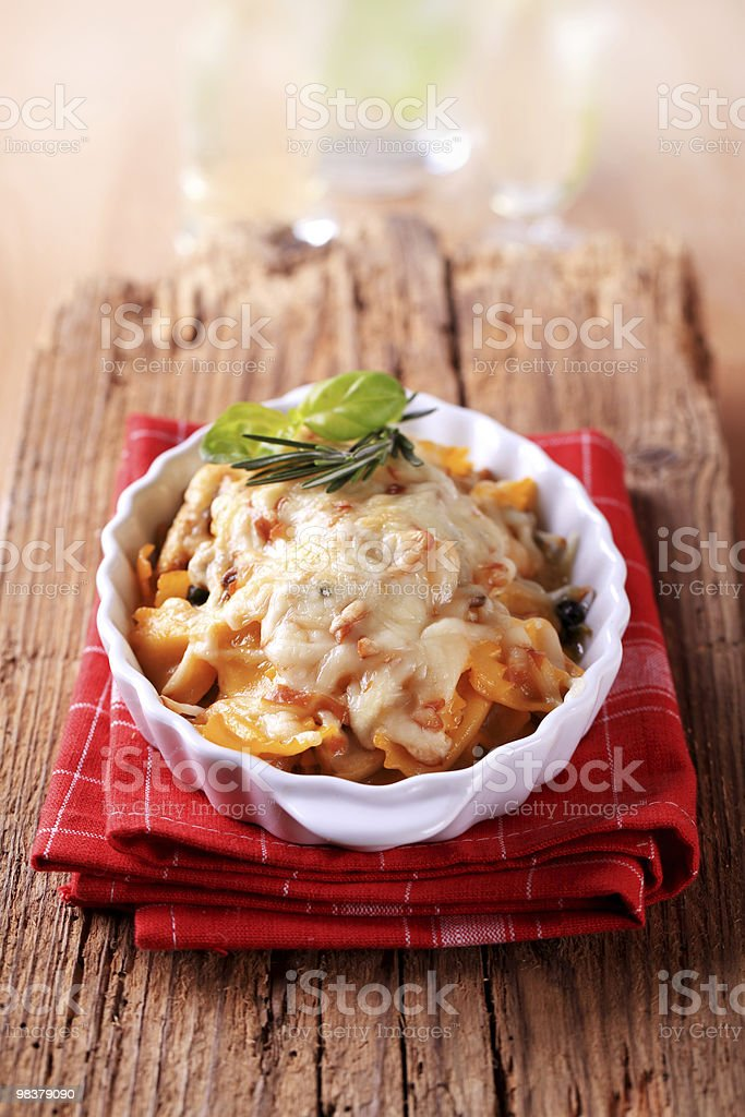Pasta casserole royalty-free stock photo