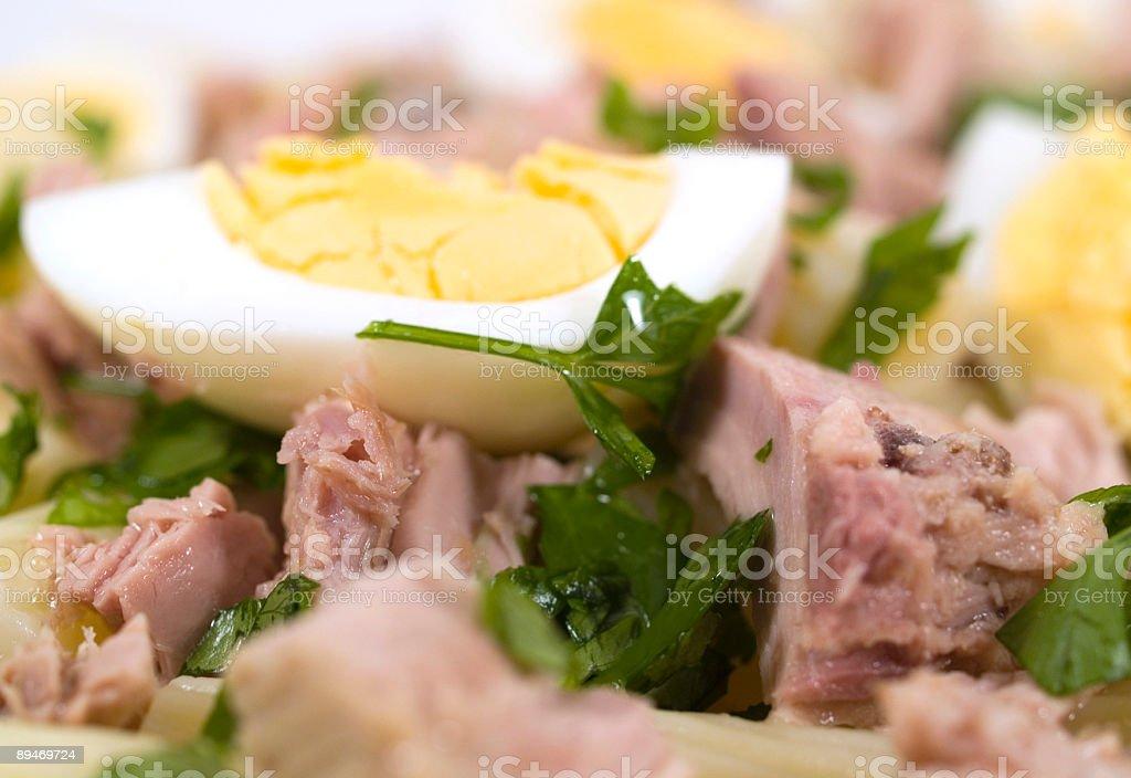 De Pasta de macarrones con atún foto de stock libre de derechos