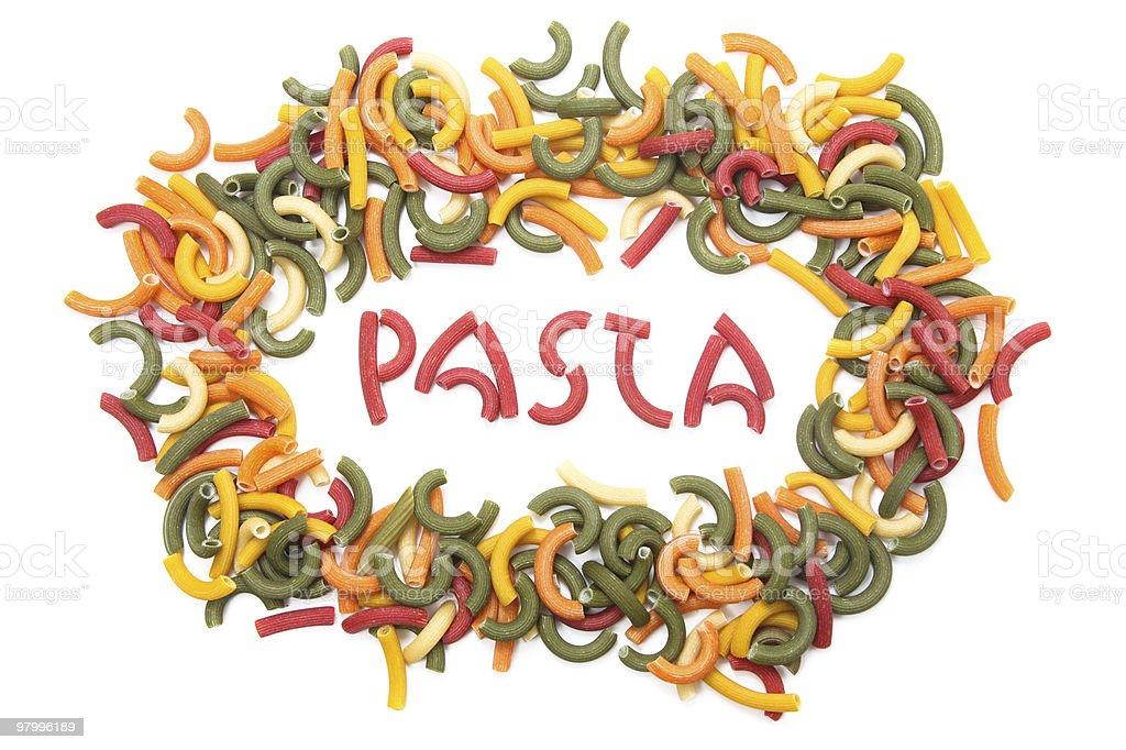 pasta confetti royalty free stockfoto