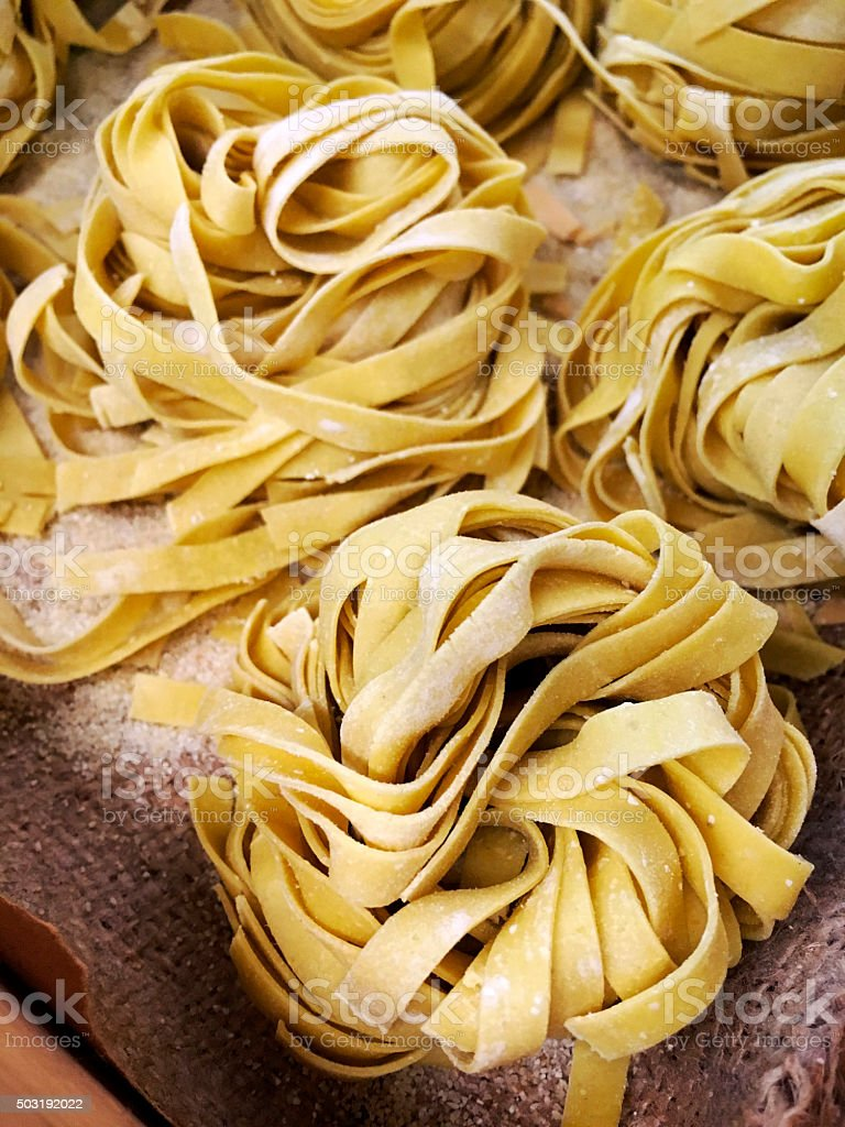 Pasta Fettuccine stock photo