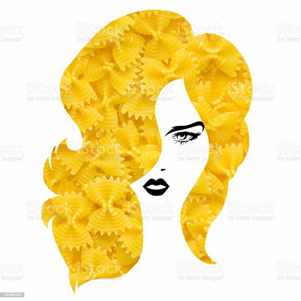 Pasta hairstyle. royalty-free stock photo