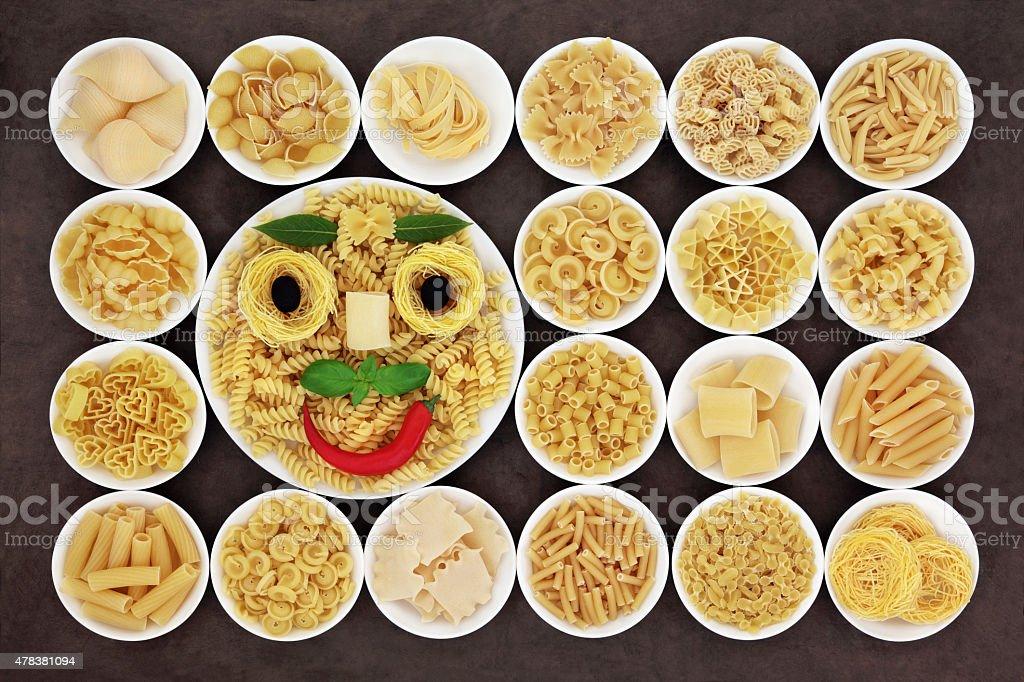Pasta Happiness stock photo