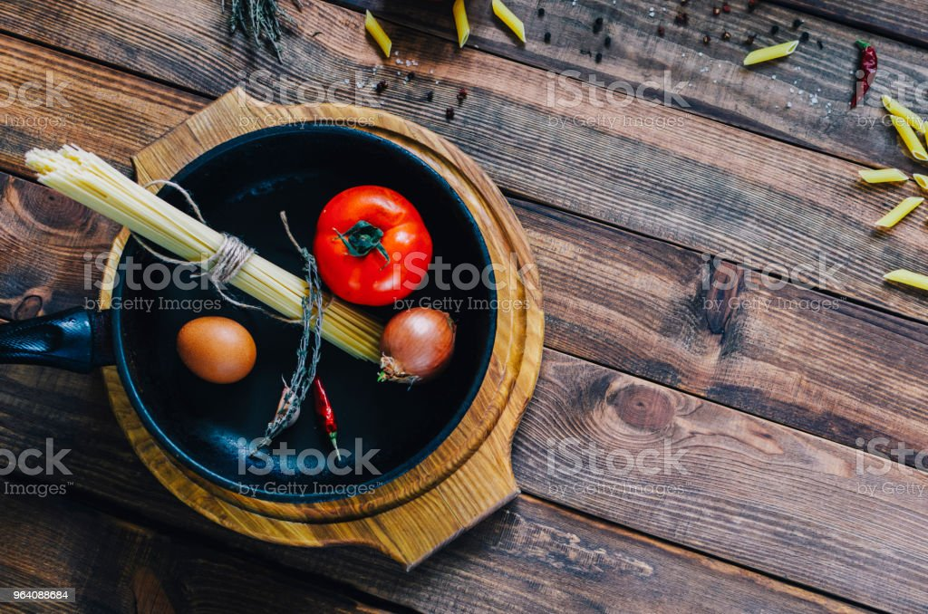 Pasta In Pan - Royalty-free Backgrounds Stock Photo