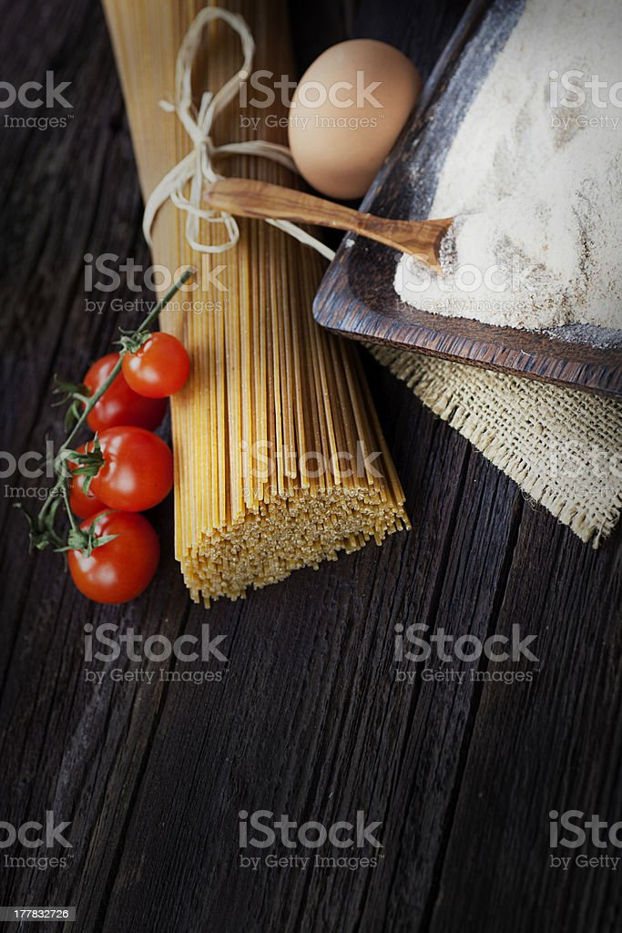 Pasta ingredients royalty-free stock photo