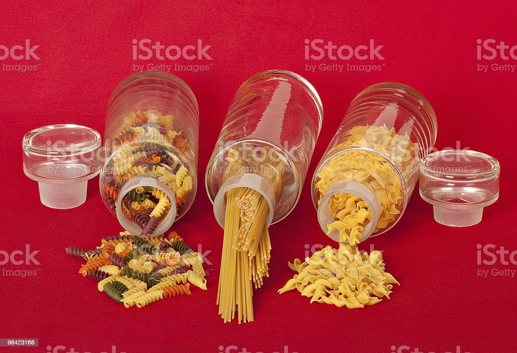 Pasta Jars royalty-free stock photo